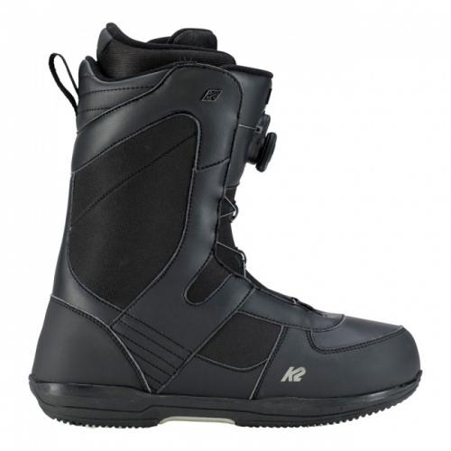 Snowboardové boty K2 Market black/černé s utahováním BOA kolečkem - VÝPRODEJ