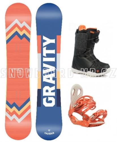 Dámský twintip freestyle/allmountain snowboard komplet Gravity Thunder 2019/20 - AKCE