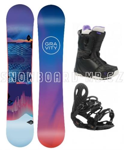 Dámský snowboard komplet Gravity Voayer s botami Atop nebo Fast lace