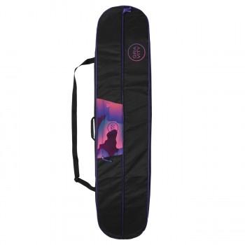 Dámský obal na snowboard Gravity Vivid černý s modro-růžovým potiskem