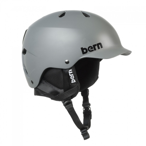 Snowboardová helma s kšiltem Bern Watts Crank-Fit šedá