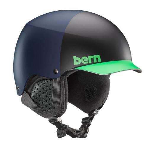 Snow přilba s kšiltem Bern Baker matte blue hatstyle