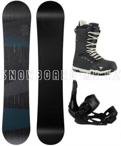 Snowboard komplet Hatchey General s vázáním Head a botami Gravity