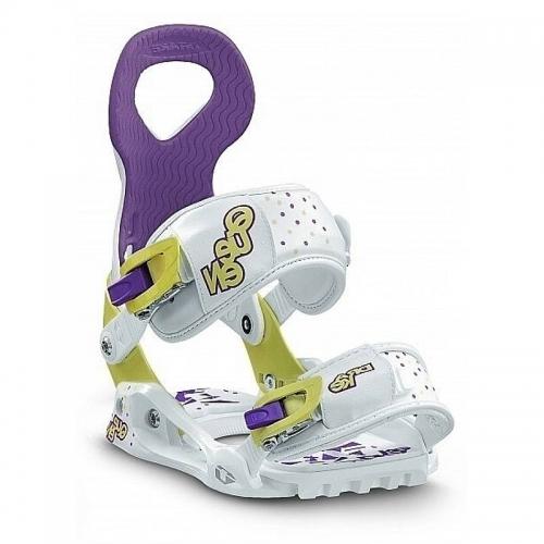 Dámské snowboardové vázání Drake Queen yellow/white/purple - VÝPRODEJ