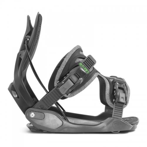 Snowboardové rychloupínací vázání Flow Alpha Grey 2020