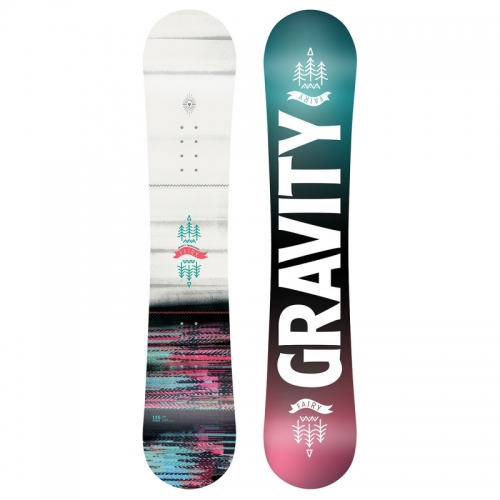 Dívčí junior snowboard komplet Gravity Fairy white
