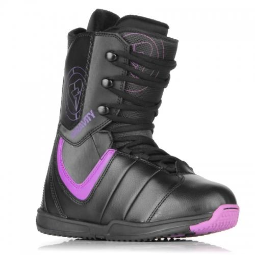 Dámské, dívčí snowboard boty Gravity Thunder black/purple  černé/fialové - VÝPRODEJ