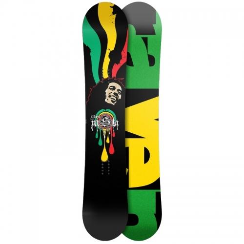 Freestyle snowboard Raven Rasta, twin snowboard banán, reverse camber - VÝPRODEJ
