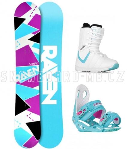 Dámské snowboardové komplety, barevný dámský snb komplet Raven Shape white