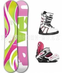 Dámský snowboard komplet Raven Venus green/pink