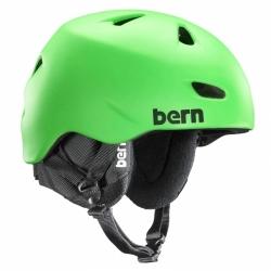 Pánská snowboardová helma Bern Brentwood satin neon green