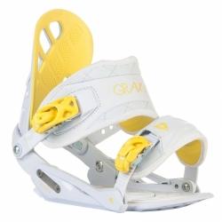 Dámské snowboardové vázání Gravity G1 Lady white/yellow bílé/žluté