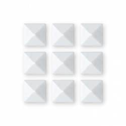 Grip Gravity Pyramid Studs white