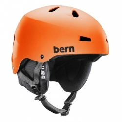 Snowboardová přilba Bern Macon matte orange / oranžová