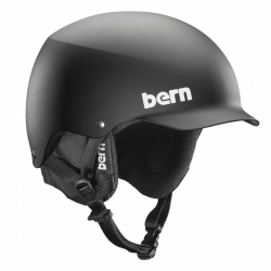 Helma na snowboard s kšiltem Bern Baker matte black / černá