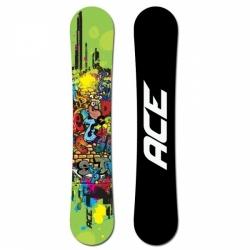 Univerzální snowboard Ace Poison green graffiti comics