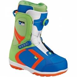 Snowboard boty Head Scout Pro Boa blue/green barevné s utahovacím kolečkem