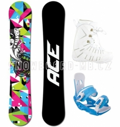 Dámský snowboardový komplet Ace Demon, levné dámské snb komplety