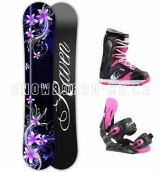 Dámský snowboard komplet Raven Flossy pink růžový/fialový