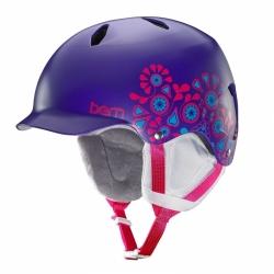 Dívčí snowboard helma Bern Bandita Satin purple floral