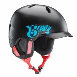 Snowboardová a lyžařská chlapecká helma Bern Bandito Satin black baseball