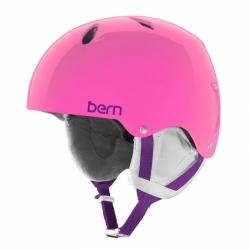 Dívčí lyžařská a snowboardová helma Bern Diabla translucent pink / růžová