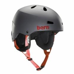 Snowboardová helma Bern Team Macon grey, přilby na snowboard