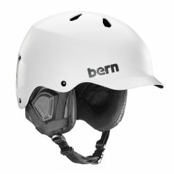 Snowboardová pánská přilba Bern Watts Satin white / bílá