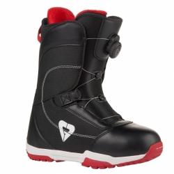 Dámské snb boty Gravity Aura Atop black/red utahovací kolečko