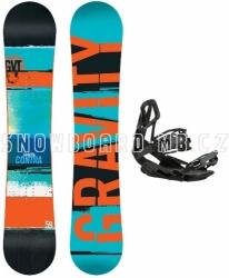 Snowboard set Gravity Contra, snowboard s vázáním
