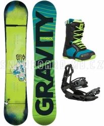 Snowboard komplet Gravity Symbol black/blue
