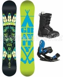 Snowboard komplet Gravity Empatic black/blue