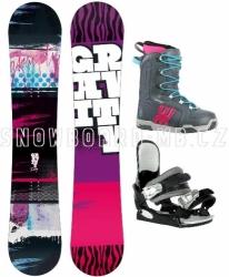 Dívčí snowboardový komplet Gravity Fairy, levné dětské snowboard komplety