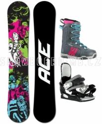 Dámský levný  snowboard komplet pro začátečníky Ace Monster