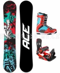 Snowboard komplet Ace Villain, akční levné snowboard komplety