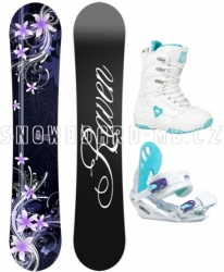 Dámský snowboard komplet Raven Flossy black/white