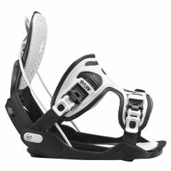 Snowboard vázání Flow Alpha charcoal black/white