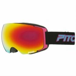 Snow brýle Pitcha magno black/pink/fire mirrored, oranžové zrcadlové sklo, růžový rámeček