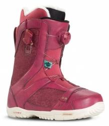 Dámské snowboardové boty K2 Sapera burgundy BOA stahovací kolečko
