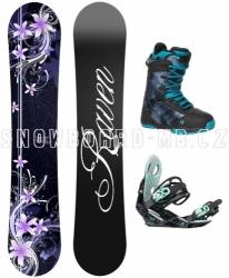 Dámský snowboardový komplet Raven Flossy černý/fialový/modrý