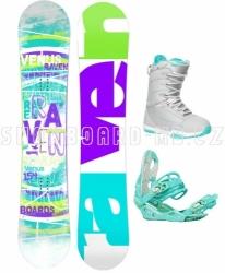 Dámský snowboardový komplet Raven Venus tyrkysová, fialová