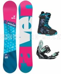 Dámský snowboardový set s botami Raven Style, dámské vázání a boty Gravity