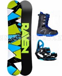 Pánský snowboard komplet Raven Shape black/blue s vázáním a botami Woox
