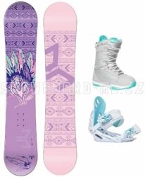 Dámský a dívčí snowboard komplet Beany Spirit