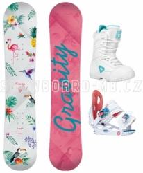 Dětský snowboard set Gravity Fairy 17/18