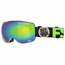 Snow brýle Pitcha FSP Black fluo/green mirrored, zeleno-modré sklo