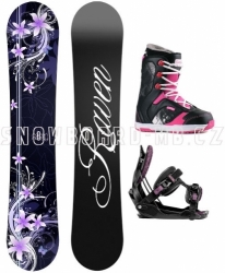 Dámský snowboard komplet Raven Flossy purple