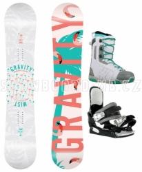 Světlý dámský snowboardový set Gravity Mist s vázáním a botami Westige
