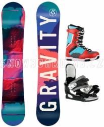 Dámský snowboard komplet Gravity Thunder red 2018