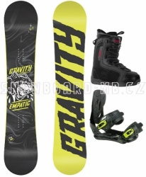Snowboardový komplet Gravity Empatic yellow s botami Beany